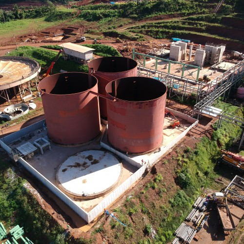 May - Leach tanks with concrete bund complete