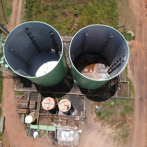 March - Aerial image of refurbished detox tanks
