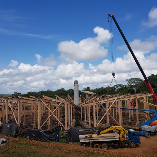 January - Erection of pre-leach thickener support steel nearly complete