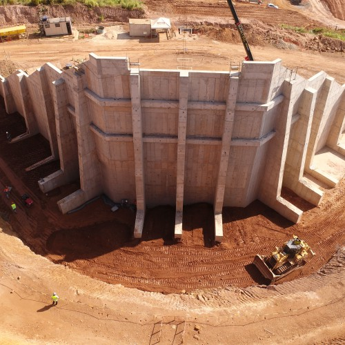 August 22 - Crusher before backfill